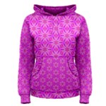 Pink Snowflakes Spinning In Winter Women s Pullover Hoodie