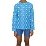 Aqua Hawaiian Stars Under A Night Sky Dance Kid s Long Sleeve Swimwear