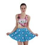 Aqua Hawaiian Stars Under A Night Sky Dance Mini Skirts