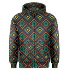 Rhombus Pattern          Men s Zipper Hoodie by LalyLauraFLM