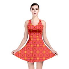 Peach Apricot Cinnamon Nutmeg Kitchen Modern Abstract Reversible Skater Dress by DianeClancy