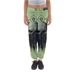 Awesome Green Skull Women s Jogger Sweatpants by FantasyWorld7