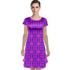 Abstract Dancing Diamonds Purple Violet Cap Sleeve Nightdress by DianeClancy
