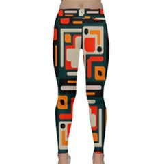 Shapes In Retro Colors Texture                   Yoga Leggings by LalyLauraFLM