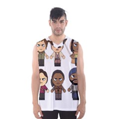 The Walking Dead   Main Characters Chibi   Amc Walking Dead   Manga Dead Men s Basketball Tank Top by PTsImaginarium