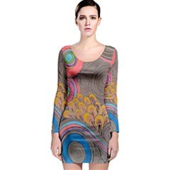 Rainbow Passion Long Sleeve Bodycon Dress by SugaPlumsEmporium