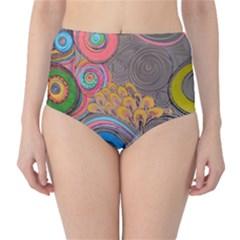 Rainbow Passion High Waist Bikini Bottoms by SugaPlumsEmporium