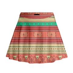 Hand Drawn Ethnic Shapes Pattern Mini Flare Skirt by TastefulDesigns