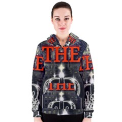 The King Women s Zipper Hoodie by SugaPlumsEmporium