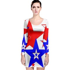 The Patriot 2 Long Sleeve Bodycon Dress by SugaPlumsEmporium