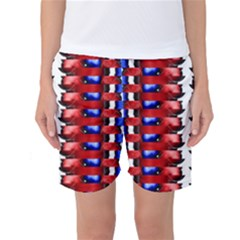 The Patriotic Flag Women s Basketball Shorts by SugaPlumsEmporium