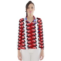 The Patriotic Flag Wind Breaker (women) by SugaPlumsEmporium