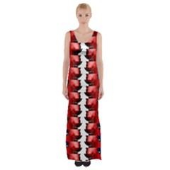 The Patriotic Flag Maxi Thigh Split Dress by SugaPlumsEmporium