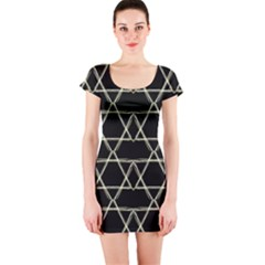Star Of David   Short Sleeve Bodycon Dress by SugaPlumsEmporium