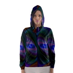 Eye Of The Galactic Storm Hooded Wind Breaker (women) by StuffOrSomething
