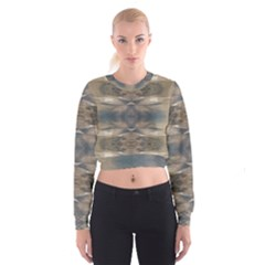 Wildlife Brown Black Women s Cropped Sweatshirt by yoursparklingshop