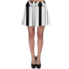 Funny Black And White Stripes Diamonds Arrows Skater Skirt by yoursparklingshop