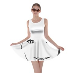 Portrait Black And White Girl Skater Dress by yoursparklingshop