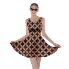 Circles3 Black Marble & Copper Brushed Metal Skater Dress by trendistuff
