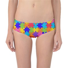Funny Colorful Jigsaw Puzzle Classic Bikini Bottoms by yoursparklingshop