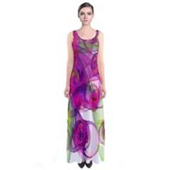 Violet Full Print Maxi Dress by SugaPlumsEmporium