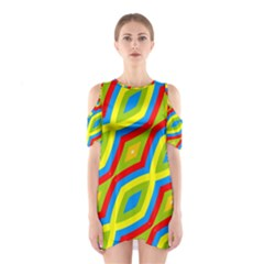 Colorful Chains                    Women s Cutout Shoulder Dress by LalyLauraFLM