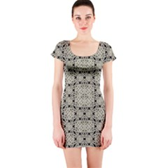 Interlace Arabesque Pattern Short Sleeve Bodycon Dress by dflcprintsclothing