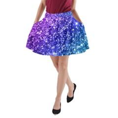 Glitter Ocean A Line Pocket Skirt by KirstenStar
