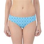 Bright blue quatrefoil pattern Hipster Bikini Bottoms