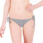 Grey Quatrefoil Pattern Bikini Bottom