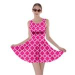Hot pink quatrefoil pattern Skater Dress