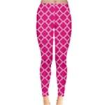Hot pink quatrefoil pattern Leggings