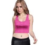Hot pink quatrefoil pattern Racer Back Crop Top