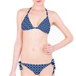 Navy blue quatrefoil pattern Bikini Set