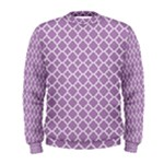 Purple Lilac White Quatrefoil Classic Pattern Men s Sweatshirt