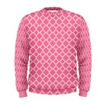 Soft Pink Quatrefoil Pattern Men s Sweatshirt