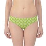Spring green quatrefoil pattern Hipster Bikini Bottoms