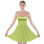 Spring green quatrefoil pattern Strapless Bra Top Dress