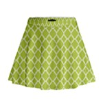Spring green quatrefoil pattern Mini Flare Skirt