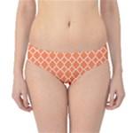 Tangerine orange quatrefoil pattern Hipster Bikini Bottoms
