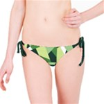 Abstract Jungle Green Brown Geometric Art Bikini Bottom