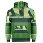 Abstract Jungle Green Brown Geometric Art Men s Pullover Hoodie