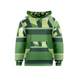 Abstract Jungle Green Brown Geometric Art Kids  Pullover Hoodie