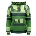 Abstract Jungle Green Brown Geometric Art Women s Pullover Hoodie