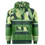 Abstract Jungle Green Brown Geometric Art Men s Zipper Hoodie