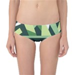 Abstract Jungle Green Brown Geometric Art Classic Bikini Bottoms
