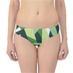Abstract Jungle Green Brown Geometric Art Hipster Bikini Bottoms
