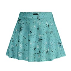 Abstract Cracked Texture Print Mini Flare Skirt by dflcprintsclothing