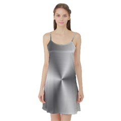 Shiny Metallic Silver Satin Night Slip by yoursparklingshop
