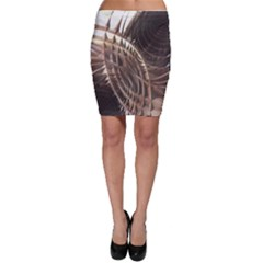 Metallic Copper Abstract Modern Art Bodycon Skirt by CrypticFragmentsDesign